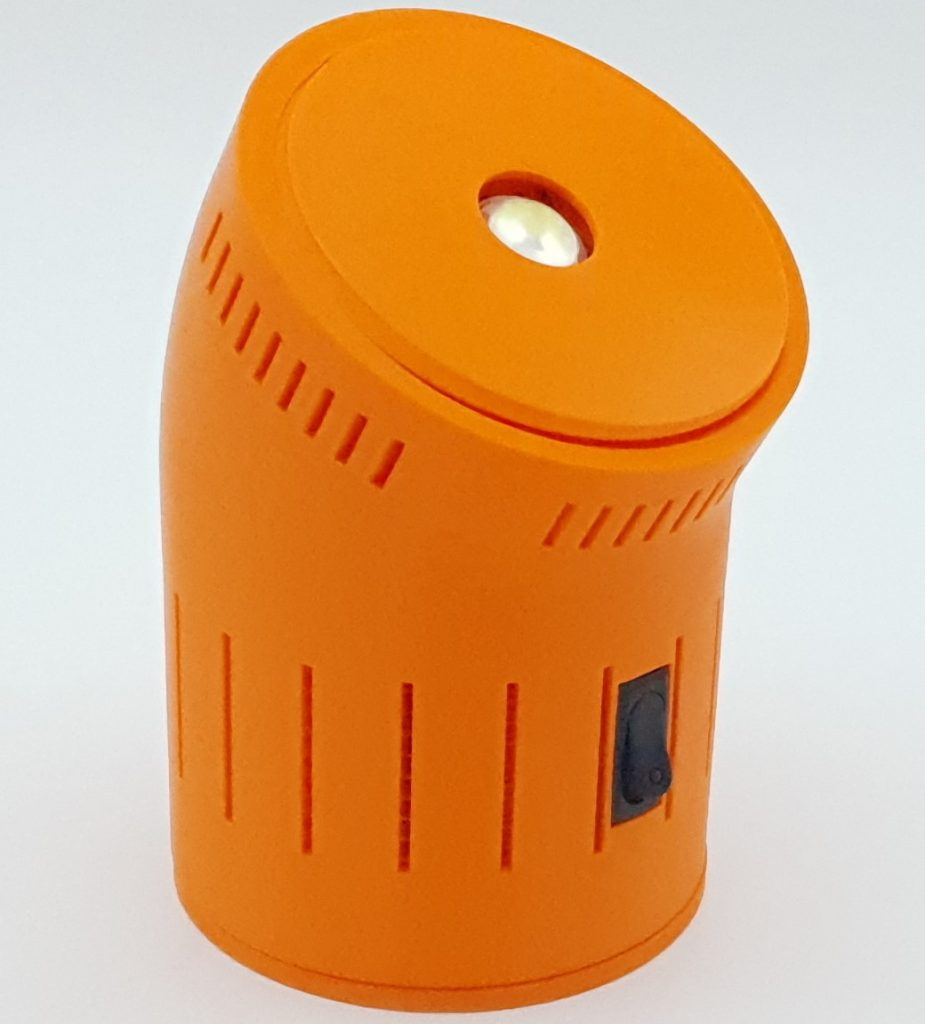 Battery operated camping lamp